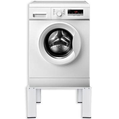 vidaXL Förhöjningssockel för tvättmaskin vit