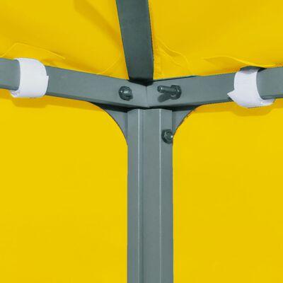 vidaXL Paviljongtak med ventilering 310 g/m² 3x3 m gul