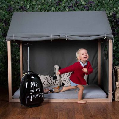 CHILDHOME Överdrag för sängram 150x80x140 cm antracit