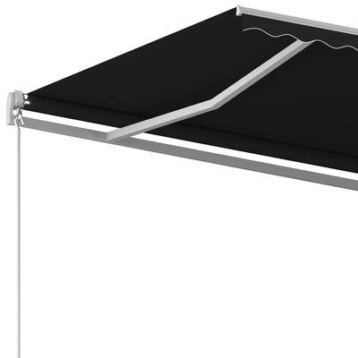 vidaXL Markis manuellt infällbar 450x350 cm antracit