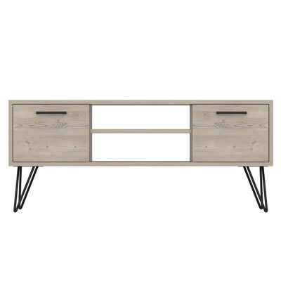 Homemania TV-bänk Almira 120x35x50 cm trä och svart