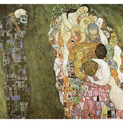 Death and Life,Gustav Klimt,50x50cm,