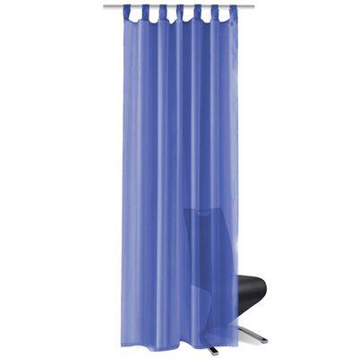 vidaXL Gardiner i voile 2 st 140x175 cm kungsblå