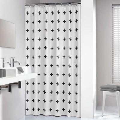 Sealskin Duschdraperi Signes 180x200 cm svart och vit