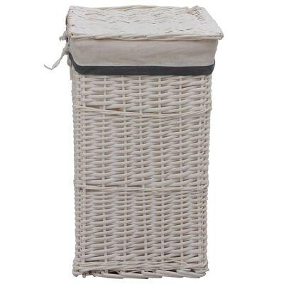 vidaXL Stapelbar tvättkorg vit pil