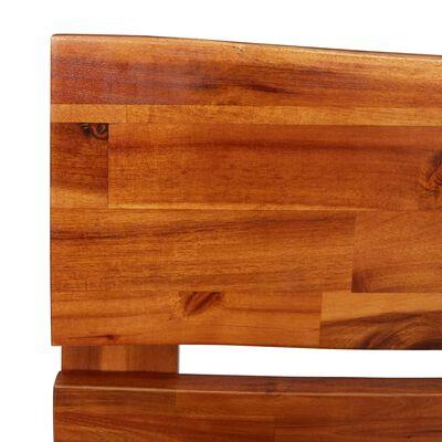 vidaXL Sängram med levande kant massivt akaciaträ 120 cm