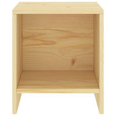 vidaXL Sängbord ljust trä 35x30x40 cm massiv furu
