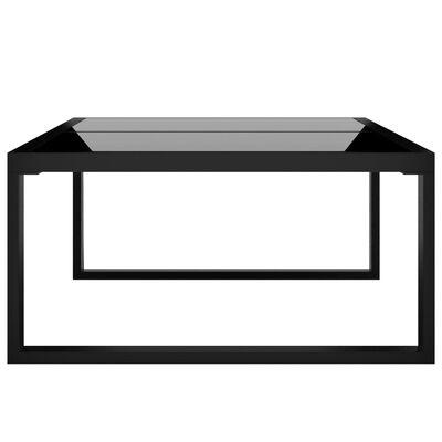 vidaXL Loungegrupp 6 delar med dynor konstrotting antracit