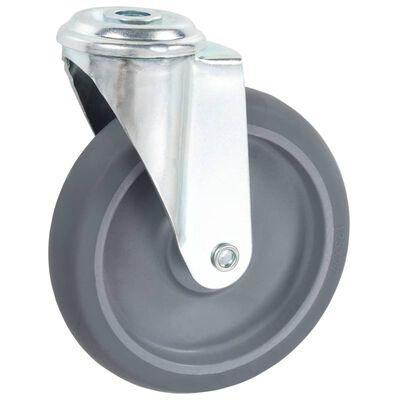 vidaXL Länkhjul med bulthål 12 st 125 mm,