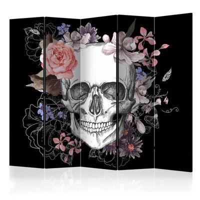 Rumsavdelare - Skull And Flowers Ii   - 225x172 Cm