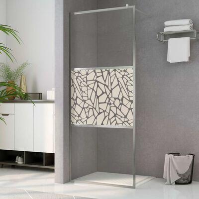 vidaXL Duschvägg med ESG-glas stendesign 140x195 cm