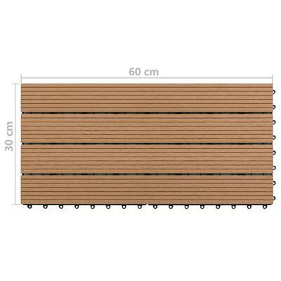 vidaXL Markplattor 6 st WPC 60x30 cm 1,08 m² brun