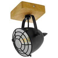 EGLO Spotlight Gatebeck 1 lampa stål och trä svart