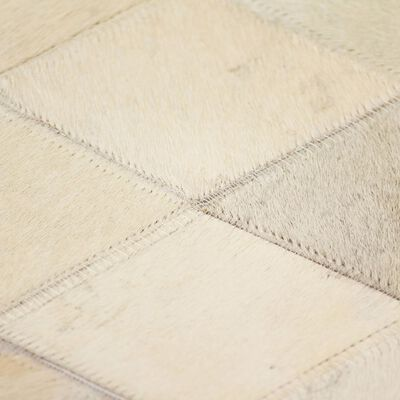 vidaXL Matta äkta läder lappad diamant 160x230 cm grå