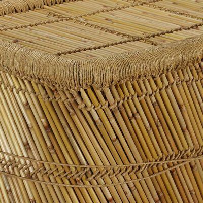 vidaXL Soffbord fyrkantigt 78x50x45 cm bambu