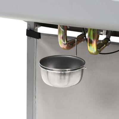 vidaXL Gasolgrill med 2 grillzoner rostfritt stål silver,
