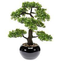 Emerald Konstväxt bonsaiträd fikus mini grön 47 cm 420006