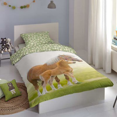 Good Morning Bäddset för barn YOUNG 140x200/220 cm grön