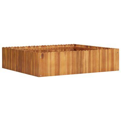 vidaXL Odlingslåda upphöjd 100x100x25 cm massivt akaciaträ