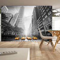 Fototapet - New York - Yellow Taxis - 350x245 Cm