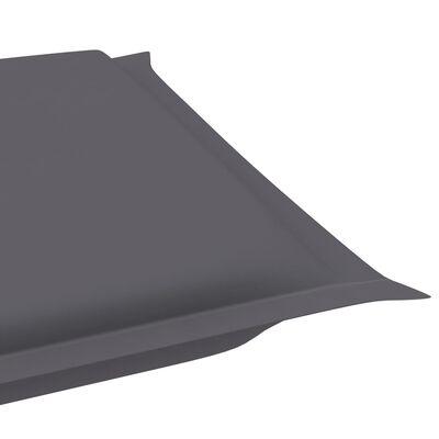 vidaXL Solsängsdyna antracit 186x58x4 cm