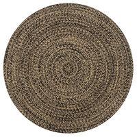 vidaXL Handgjord jutematta svart och naturlig 150 cm