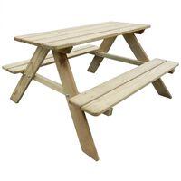 vidaXL Picknickbord för barn 89 x 89,6 x 50,8 cm furu