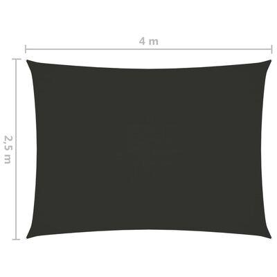 vidaXL Solsegel oxfordtyg rektangulärt 2,5x4 m antracit