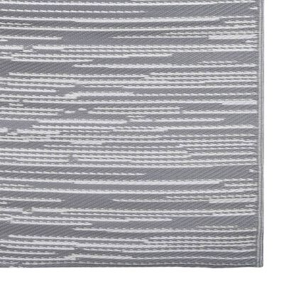 vidaXL Utomhusmatta grå 160x230 cm PP