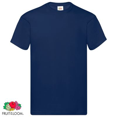 Fruit of the Loom Original t-shirt 5-pack marinblå stl. S bomull