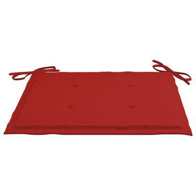 vidaXL Dynor för trädgårdsstolar 4 st röd 40x40x4 cm