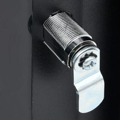 """vidaXL 12U Nätverksskåp väggmonterat 19"""" IP20 600x600x640 mm"""