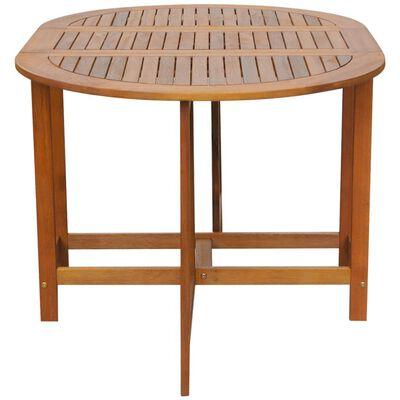 vidaXL Trädgårdsbord 130x90x72 cm massivt akaciaträ