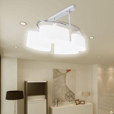 Taklampa krom med fyra ljuskällor