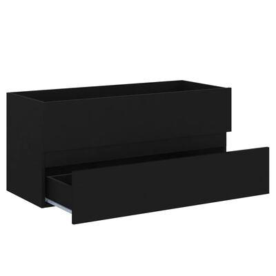 vidaXL Tvättställsskåp svart 100x38,5x45 cm spånskiva, Black