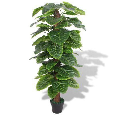 vidaXL Konstväxt Taro med kruka 145 cm grön