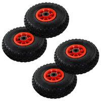 vidaXL Hjul för säckkärra 4 st gummi 3.00-4 (260x85)