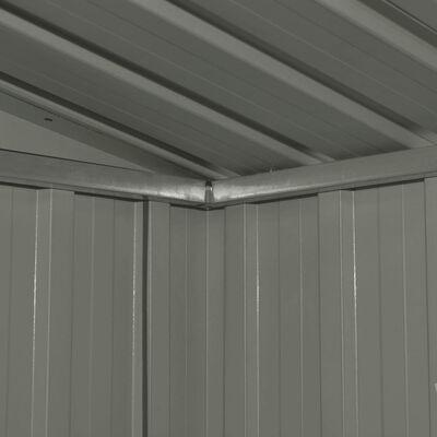 vidaXL Förvaringsbod antracit stål 257x205x178 cm