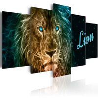 Tavla - Gold Lion - 100x50 Cm
