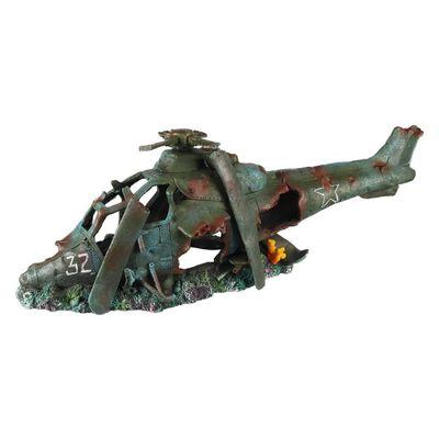 Aqua d'ella Akvariedekoration helikopter 19x8x10,5cm polyresin