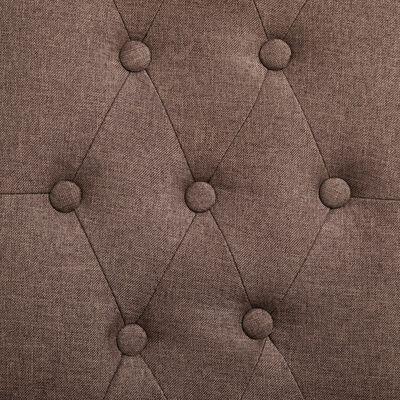 vidaXL Matstolar 2 st brun tyg