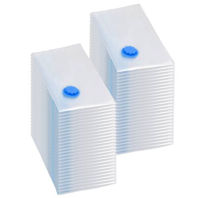 vidaXL Vakuumpåsar till kläder 80x60 cm 50 st