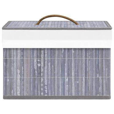 vidaXL Förvaringslådor bambu 4 st grå