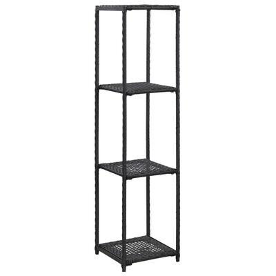 vidaXL Förvaringshylla svart 30x30x120 cm konstrotting