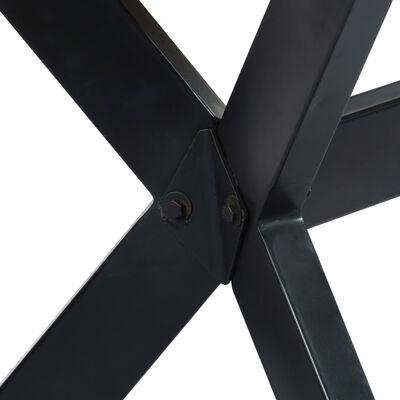 vidaXL Matbord 120x60x75 cm massivt sheshamträ