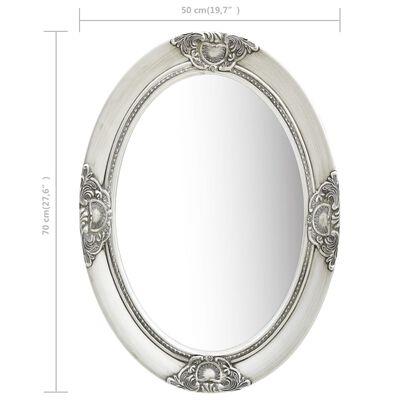 vidaXL Väggspegel barockstil 50x70 cm silver