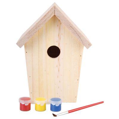 Esschert Design Fågelholk med målarfärg 14.8x11.7x20 cm KG145