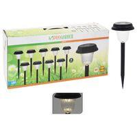 ProGarden Soldrivna trädgårdslampor LED 9 st svart