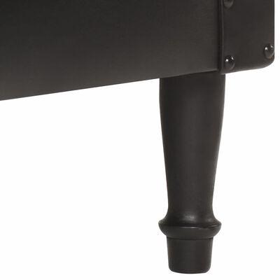 vidaXL Fåtölj äkta läder svart
