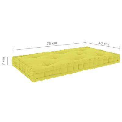 vidaXL Dyna till pallsoffa äppelgrön 73x40x7 cm bomull, Applegreen
